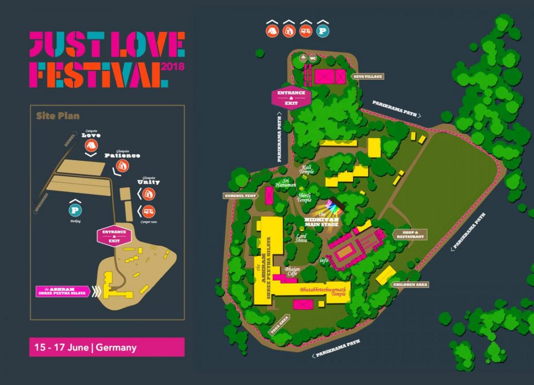 just love festival bhakti marga map
