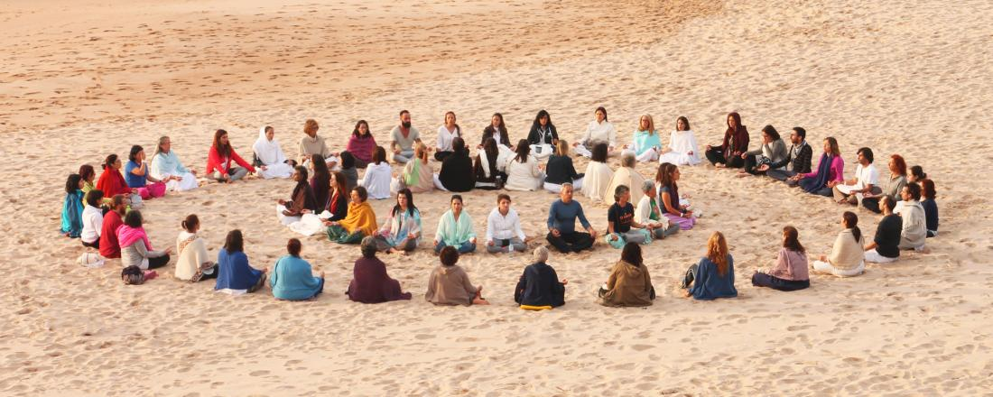 OM Chanting at the beach - Bhakti Marga